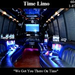 Party bus interior by Time Limo